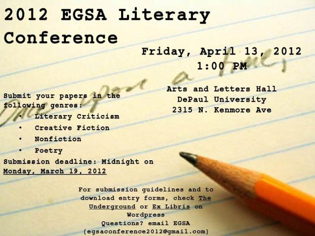 EGSA literary conference, depaulunderground.wordpress.com