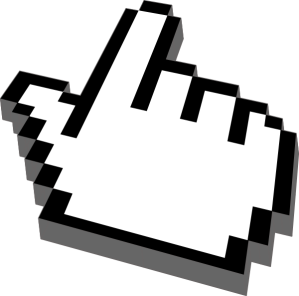 Pointing finger cursor, depaulunderground.wordpress.com