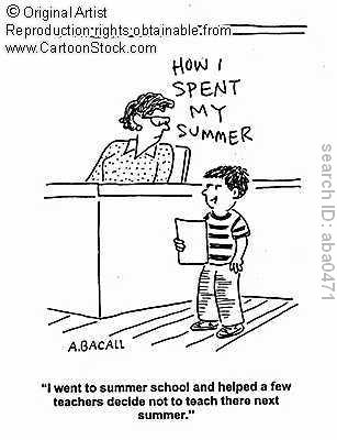 summer school cartoon, depaulunderground.wordpress.com