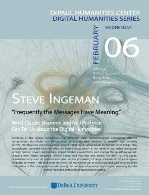 Digital Humanities Speaker presents on Feb. 6th