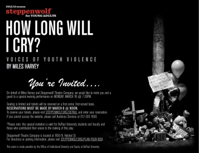 How Long Will I Cry March 18 Invitation