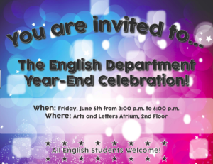 Englsh flyer for party