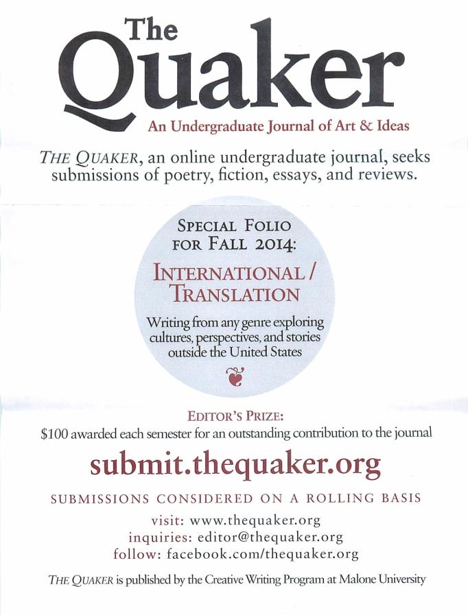 The Quaker flyer