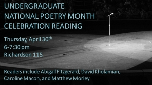 UndergradPoetryRdg_May1