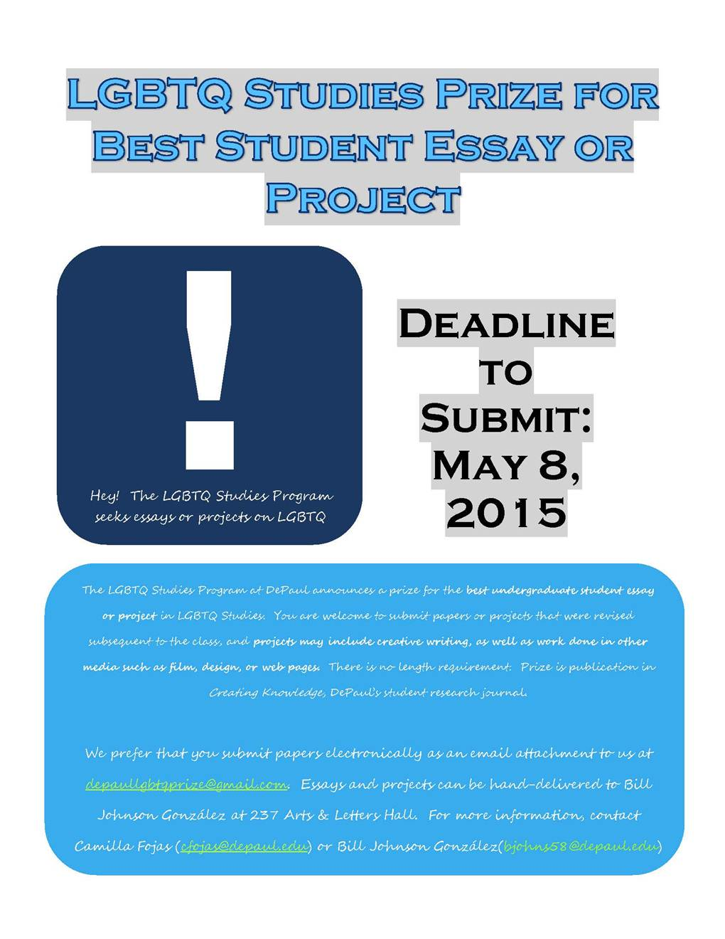 essay contest the underground un d