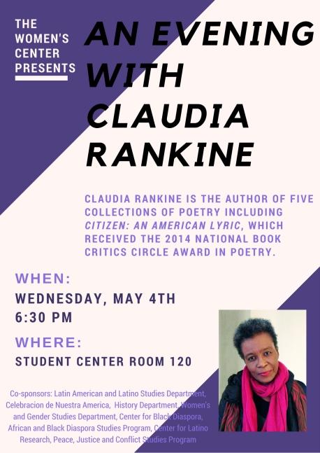 Claudia Rankine Poster