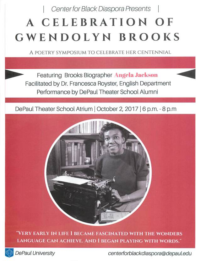 Gwendolyn Brooks 20171002