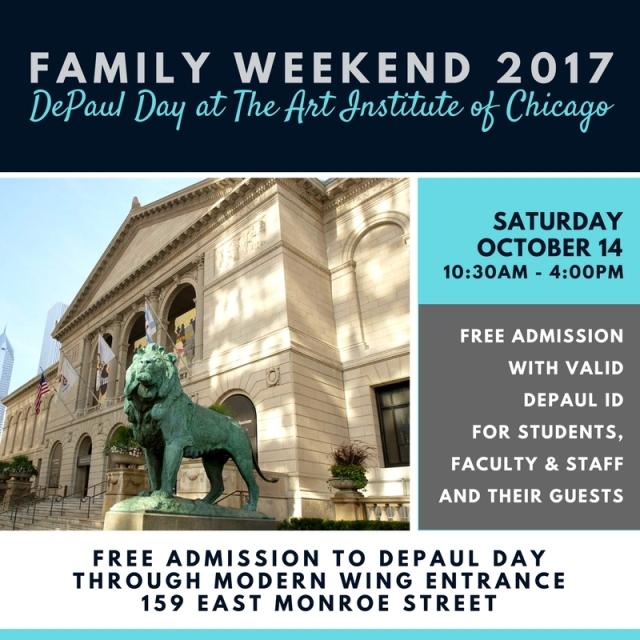 FamilyWeekend2017-DePaulDay-ArtInstitute
