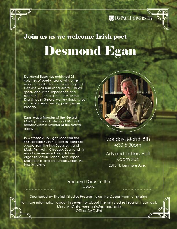 Desmond Egan Reading