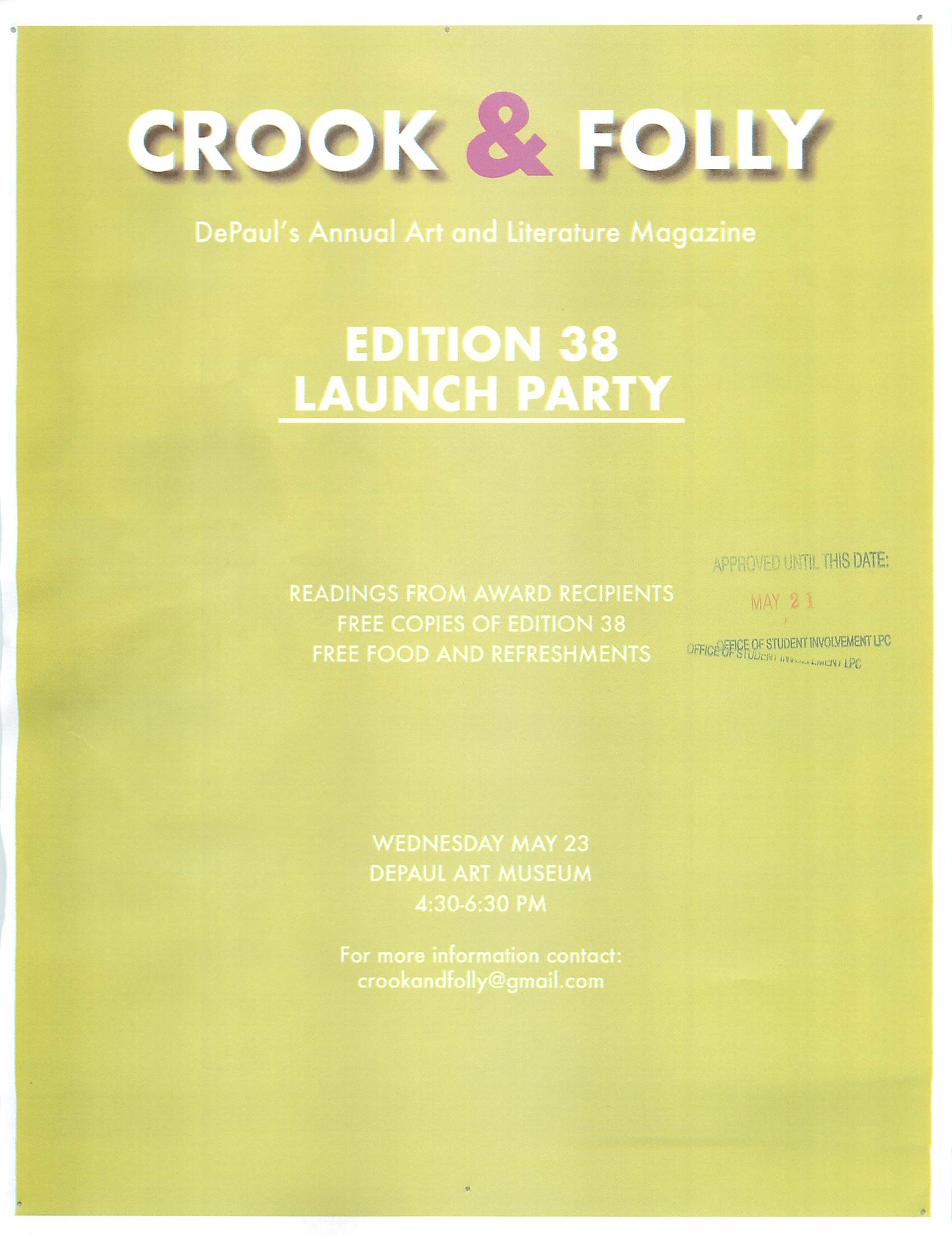 Crook & Folly Launch Party